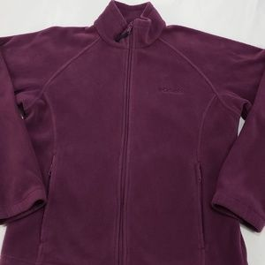 Columbia Purple Zipper Fleece Sweater Jacket